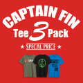 [CAPTAIN FIN Co.]  CAPTAIN FIN Tee 3 Pack
