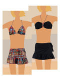 【SUGAR SHIP】Wrap Type Short Skirts