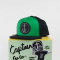 [CAPTAIN FIN Co.] OG ANCHOR Premium Cotton/Twill Hat Black/Green