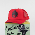 [CAPTAIN FIN Co.] CIRCLE ANCHOR Standard Trucker Hat Red