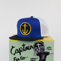 [CAPTAIN FIN Co.] OG ANCHOR Premium Trucker Hat Navy