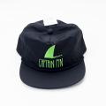 [CAPTAIN FIN Co.] SHARK FIN 5 PANEL HAT Black/Green