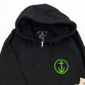 [CAPTAIN FIN Co.] Zip Hooded Sweatshirt - Black
