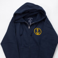 [CAPTAIN FIN Co.] Zip Hooded Sweatshirt - Navy