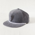 [CAPTAIN FIN Co.] FINN 5 Panel Adjustable Cord Hat - Grey