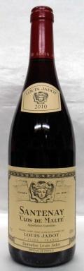 【2010】Santenay Clos de Malte Rougeサントネー ・クロ・ド・マルト・ルージュ(Louis Jadot/ルイ・ジャド)750ml