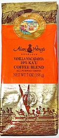 ロイヤルハワイアン・シェフアランウォンズ/バニラマカデミア7oz(198g)・10%カウコーヒー