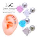 【3月新作】[16G]グリッターがキラキラ輝いて艶感up!カラーが可愛い♪シンプルストレート軟骨ピアスボディピアス0973