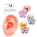 【3月新作】[16G]ちびちびサイズflower♪重ね付けもかわいいフラワー軟骨ピアスボディピアス0980
