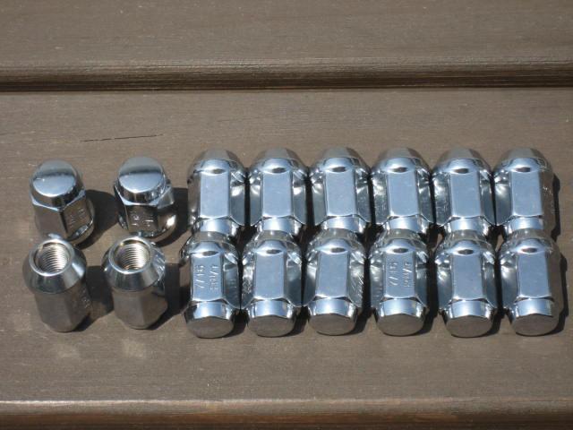 SP/SR 用 7/16-20 メッキホイールナット1台分16個
