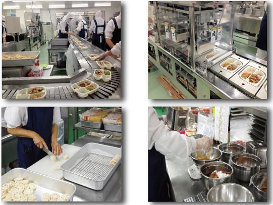 彩食健美の調理工場