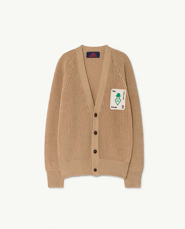 【THE ANIMALS OBSERVATORY】001085_052_XX Deep Brown Racoon Cardigan