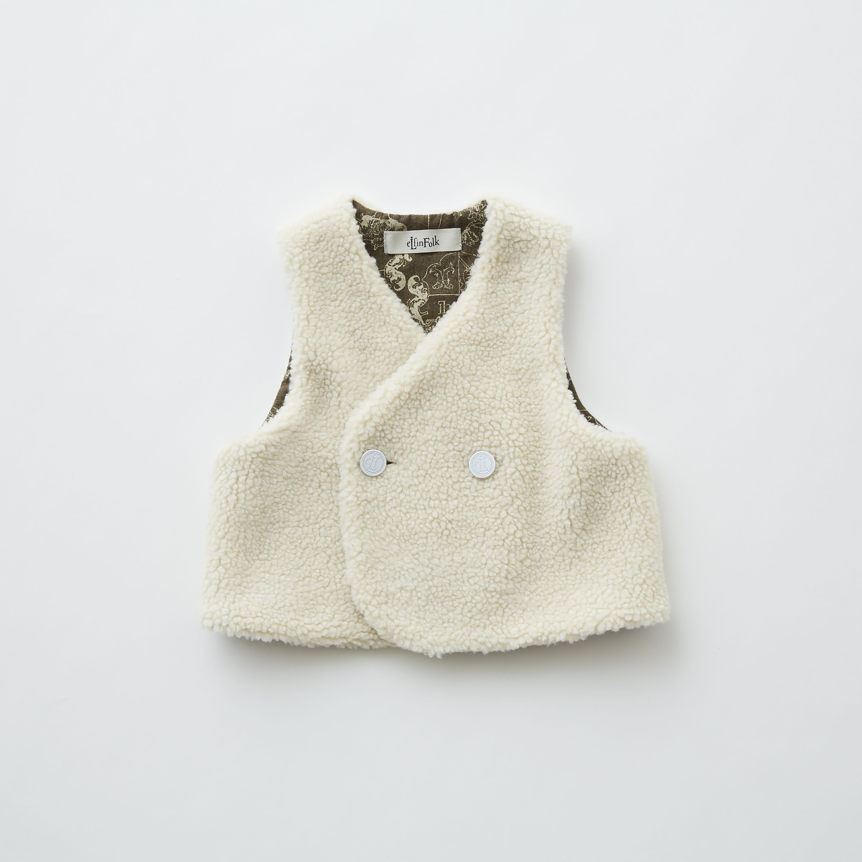 【eLfinFolk】elf-192F31 sheep boa baby vest