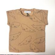 【arkakama】AKT00272/WHOLE S/S Tee/BEIGE x CHARCOAL