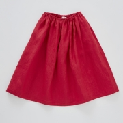 【cokitica】linen skirts red