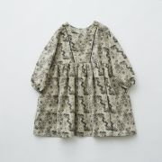 【eLfinFolk】elf-192F04 ALfaFolk emblem print dress
