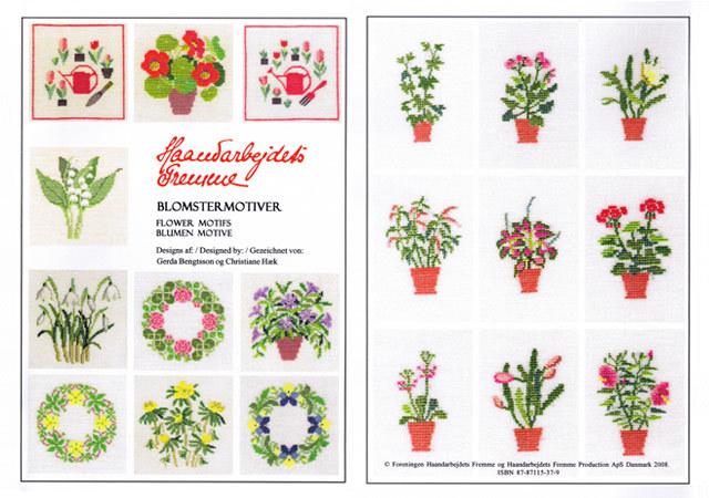 〔Fremme〕 図案集 52-2106 Flower Motifs