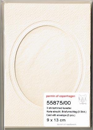 〔Permin〕 55875-00 フレームカード / オーバル / 3枚セット