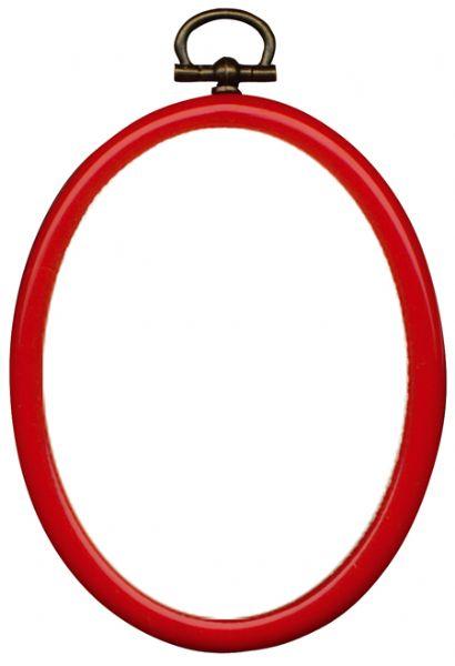 *〔Permin〕 フレーム オーバル / 赤 / 20x26cm