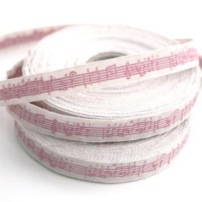 〔A-35053-05〕 リボンテープ  1cm幅  音楽 / アンティーク&ローザ (10cm単位) 【数量限定】