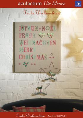 〔Acufactum〕 図案 A-82876-01 ABC Frohe Weihnachten**