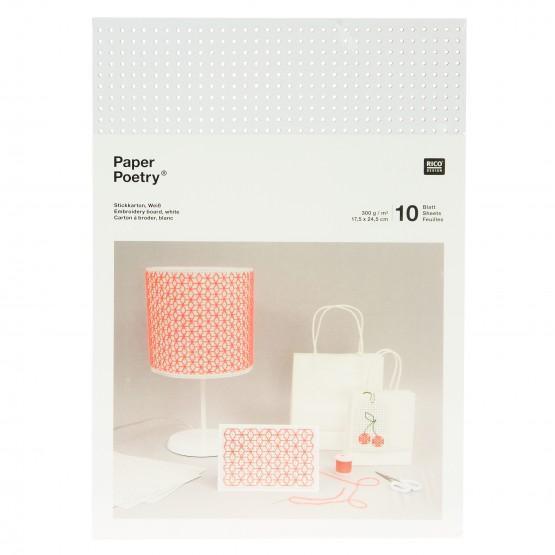 *〔Rico Design〕 08792.78.71 紙刺繍  / 白 10枚入り