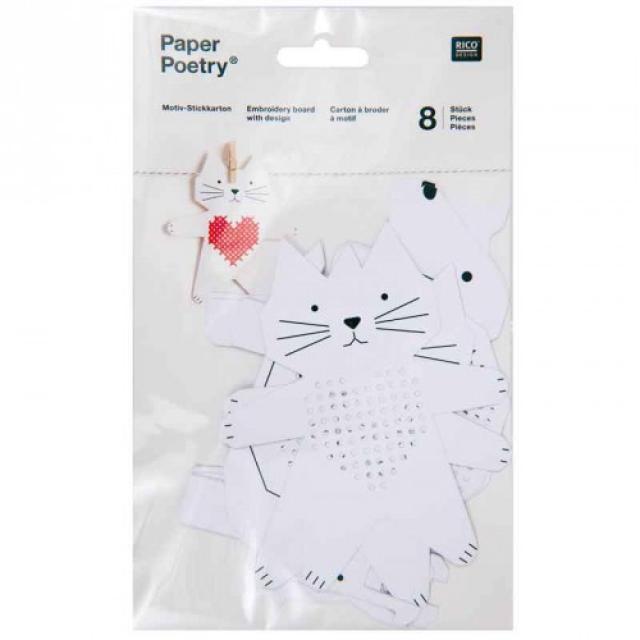 *〔Rico Design〕 08792.78.75 紙刺繍  / 動物-1(ネコ他)