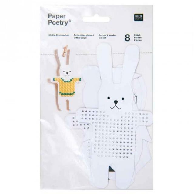 *〔Rico Design〕 08792.78.76 紙刺繍  / 動物-2(うさぎ他)