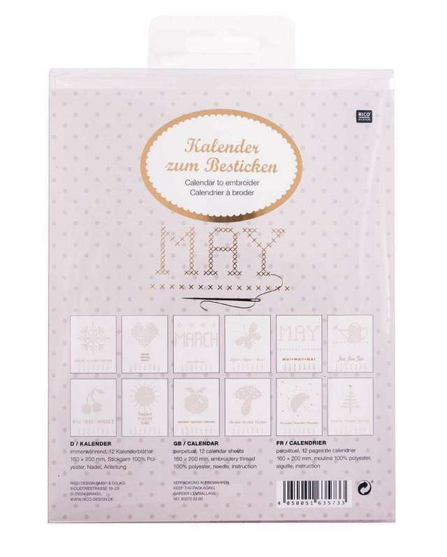 〔Rico Design〕 カレンダー刺繍セット 80072.52.00 【数量限定】
