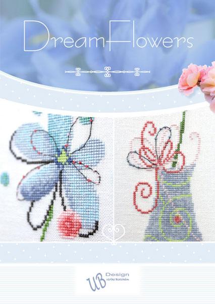 〔UB Design〕 図案集 L2017-1 Dreamflowers <Happy Point 5倍>