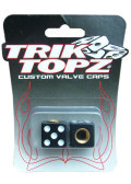 TorikTopz Air Valve Cap Dice BLACK�� �Х�� ����å� ���� ��