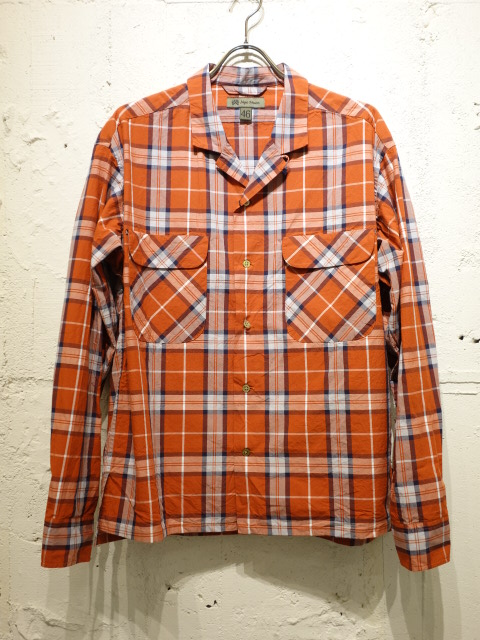 Nigel Cabourn OPEN COLLARED SHIRT L/S