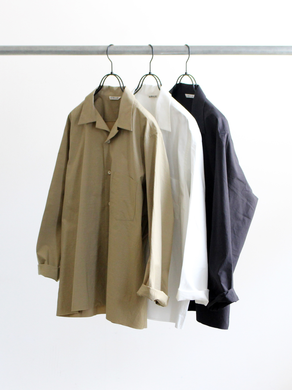 AURALEE SELVEDE WEATHER CLOTH SHIRTS