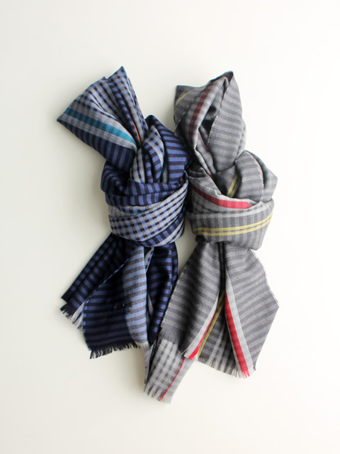 JOHNSTONS OF ELGIN Merino Stripe Scarf