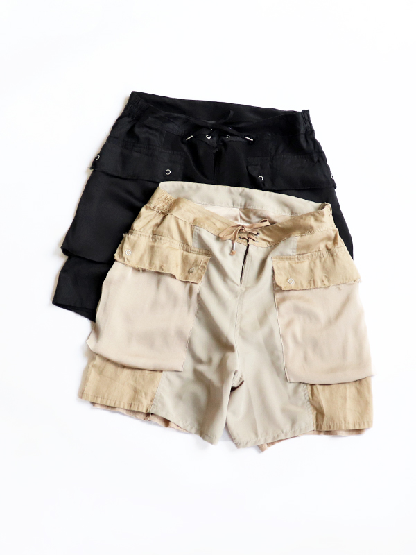 YSTRDY's TMRRW SATIN PACIFISM SHORTS