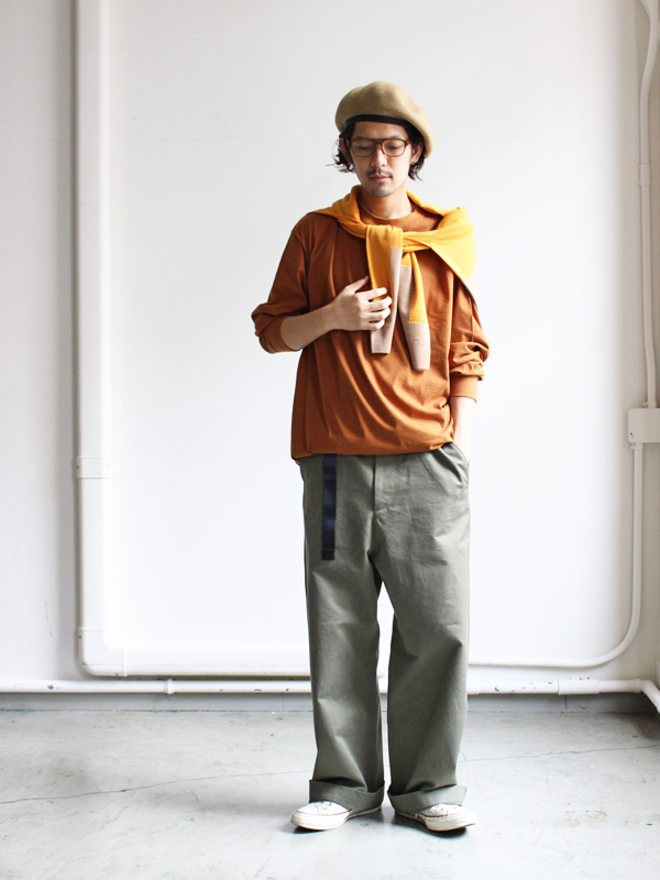 AURALEE オーラリー WASHED FINX CHINO WIDE PANTS