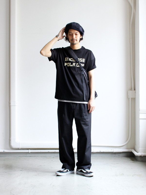 CURLY ADVANCE WIDE TROUSERS -ナイモノねだり