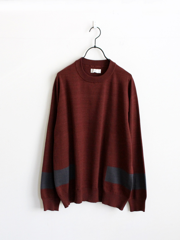 unfil giza-cotton intarsia sweater