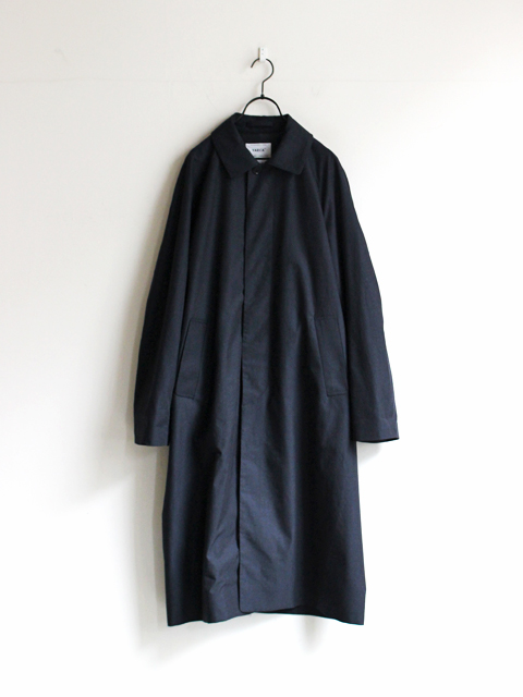 YAECA SOUTIEN COLLAR WOOL COAT -LONG