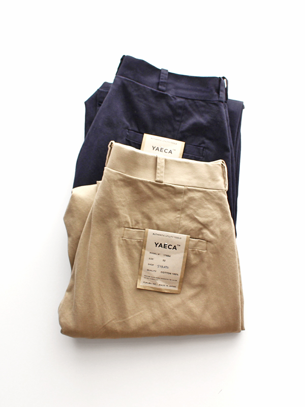 YAECA CHINO CLOTH PANTS -WIDE TAPERED