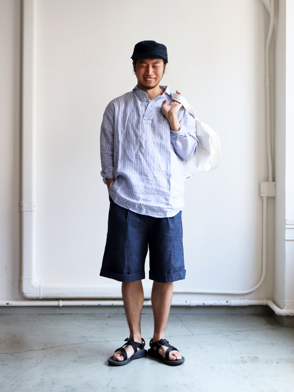 "LIFE TOURS Special Edition""HATSKI×EEL Products"" BIG SHORT -Indigo"