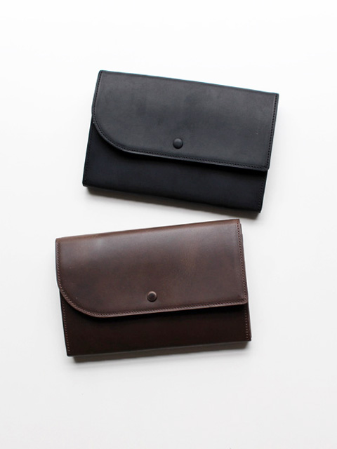 hobo Oiled Leather Trifold Wallet L