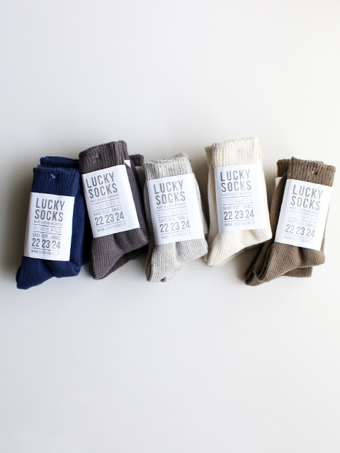 LUCKY SOCKS × G.F.G.S. PLAY Pure Organic Cotton Rib Socks (PLAY ピュアオーガニックコットンリブソックス)