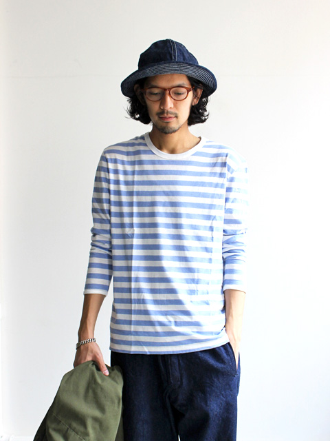 maillot light border long sleeve T-shirt (ライトボーダーロングTシャツ) MAC-055