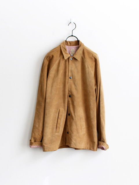 SUNDAY WORKS Suede Coach Jacket -Camel