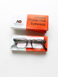 VINTAGE 50's AMERICAN OPTICAL CLEAR GREY GLASSES (DEAD STOCK)