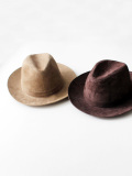 CARLO FORTI Suede Hat