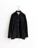 SUNDAY WORKS Suede Coach Jacket -Black