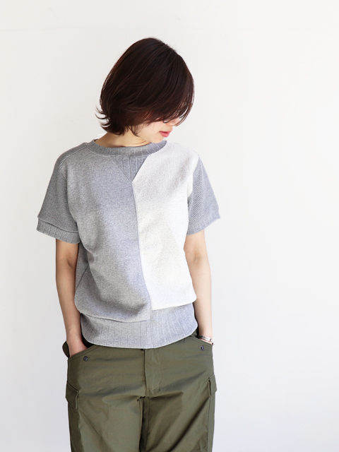 Nigel Cabourn(ナイジェルケーボン) ARMY CREW JERSEY MIX S/S