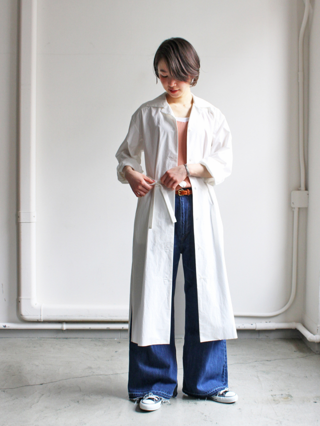 AURALEE(オーラリー) SELVEDGE WETHER CLOTH LONGSHIRT DRESS